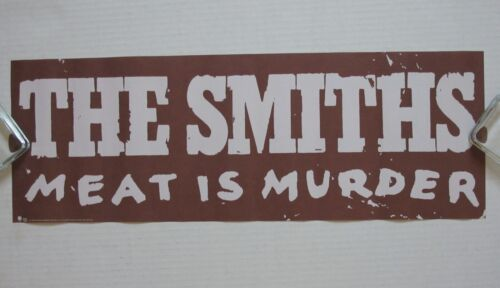 The SMITHS Meat Is Murder 1985 US Sire Records PROMO Only POSTER Morrissey VG++