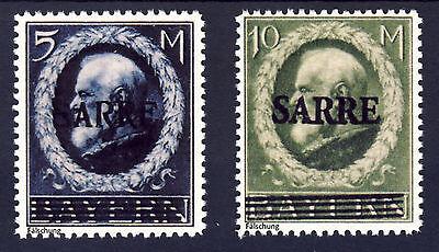 Saargebiet 1920 Freimarken Mi# 30 und 31 (*)  FÄLSCHUNG
