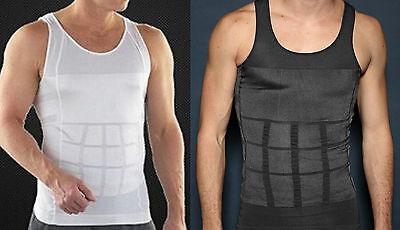 Bauch Weg Herren T-Shirt Ärmellose Unterhemd Körperformer R-018