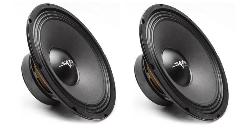 (2) NEW SKAR AUDIO FSX10-4 10-INCH 4 OHM 400W MAX CAR PRO AUDIO SPEAKERS - PAIR