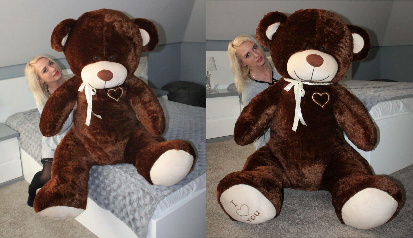 XXL Teddybär Plüsch Kuschel Stoff Tier Riesen Teddy Bär Valentinstag Geschenk XL Braun
