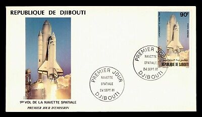 DR WHO 1981 DJIBOUTI FDC SPACE SHUTTLE CACHET  g20505
