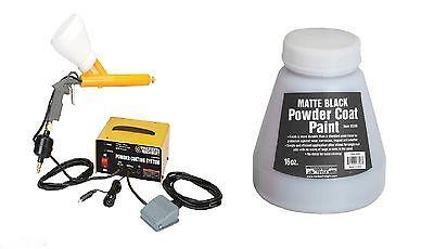 10-30 Psi 120 Volt Powder Coating System Home Shop Free Black Paint New
