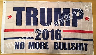3x5 Foot President Donald Trump No More Bullshit Flag 2016 Make America Great!
