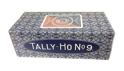 TALLY HO #9 Playing Cards 12 Decks Circle Back Design 6 Red & 6 Blue Deck