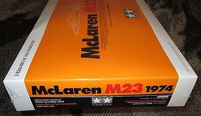 FREE Shipping! FACTORY-SEALED 1:12 SCALE TAMIYA McLAREN M23 1974 Kit No. 12045