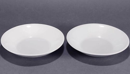 2 Meakin Antique Farmhouse White Ironstone Butter Pats