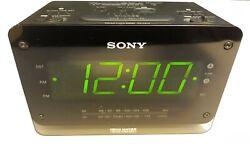 Sony ICF-C414 Dream Machine Dual Alarm Clock Radio Includes Manual Large Display