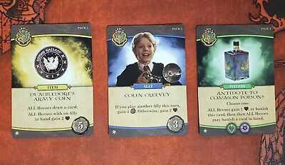 Harry Potter Hogwarts 2020 Promo Set; Colin Creevy + 2 more Free Shipping