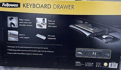 Underdesk Keyboard Drawer Computer Mouse Tray Desk Pull Out Adjustable Slides