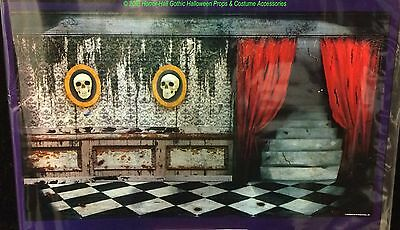 Scary Gothic Mansion ABANDONED HAUNTED HOUSE MURAL Garage Door Poster Decoration - Garage Door Decorations Halloween