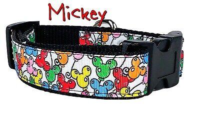 Balloons Dog Collar Collars (Mickey Balloons dog collar Handmade adjustable buckle collar 1