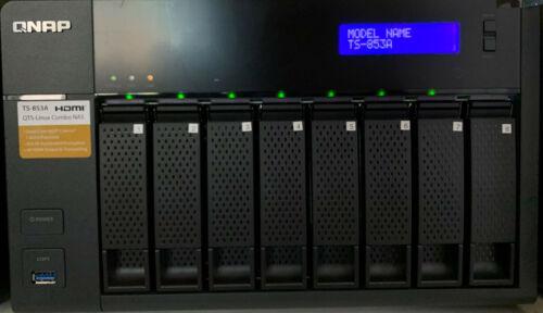 QNAP TS-853A 8 Bay NAS 1.6GHz Intel Quad Core 8GB RAM DISKLESS