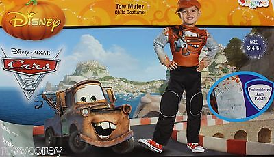 Halloween Disney Cars Tow Mater Boys Costume Size Small 4-6 NWT