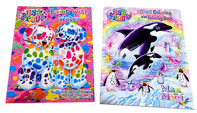 Lisa Frank Coloring Activity Book and Paint with Water Books Puppies Set of 2
