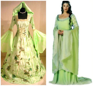 MEDIEVAL DRESS XL-2XL-3XL 20-22-24 WEDDING ARWEN COSTUME LOTR WITCH GOTHIC WICCA