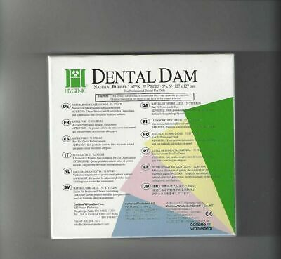 Whaledent Coltene Dental Rubber Dam Sheets Non-latex Extra Strength Size 5x5