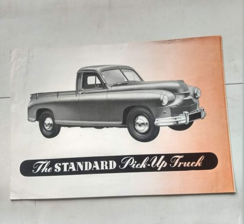 The STANDARD Pick-up Truck Sales Brochure 1950 British