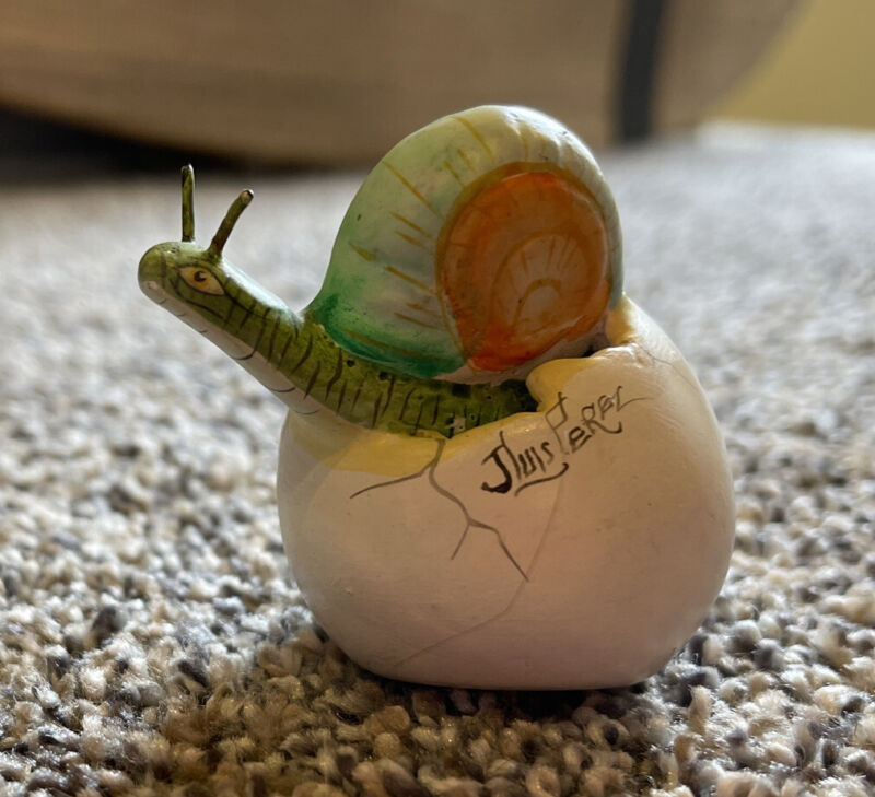 Snail Coming Out of His Egg ~Signed By The Artist Jlius Perez