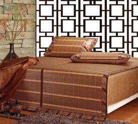 summer bamboo bed mat and baby ice silk mat