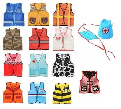 Children's Dress Up Vest 14 Professions to Choose from Child Costume fnt (Kid From Up Costume)