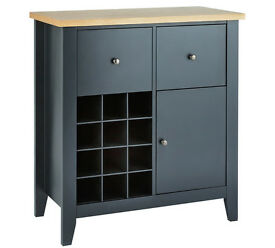 HYGENA LUNA SIDEBOARD WITH WINE RACK - BLACK