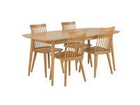 Home of Style Hartwell Dining Table with 4 Wooden Chairs