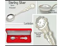 New Sterling Silver Spoon baby gift FREE personalised engraving