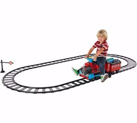 Childrens Ride On Train and Track Set