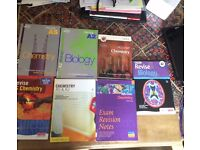 Assorted A-Level Chemistry and Biology Revision Guides/Textbooks