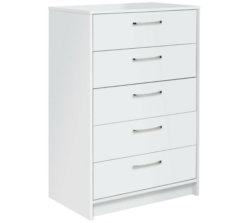 Collection Tilbury 5 Drawer Chest - White