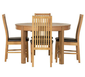 Coleridge Extendable Oval Table - 4 Paris Chairs Black