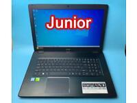 "17"" Acer i5 7thGen 16GB Ram 1TB SSD UltraFast Gaming Full HD Laptop, Boxed & Virtually Like NEW"