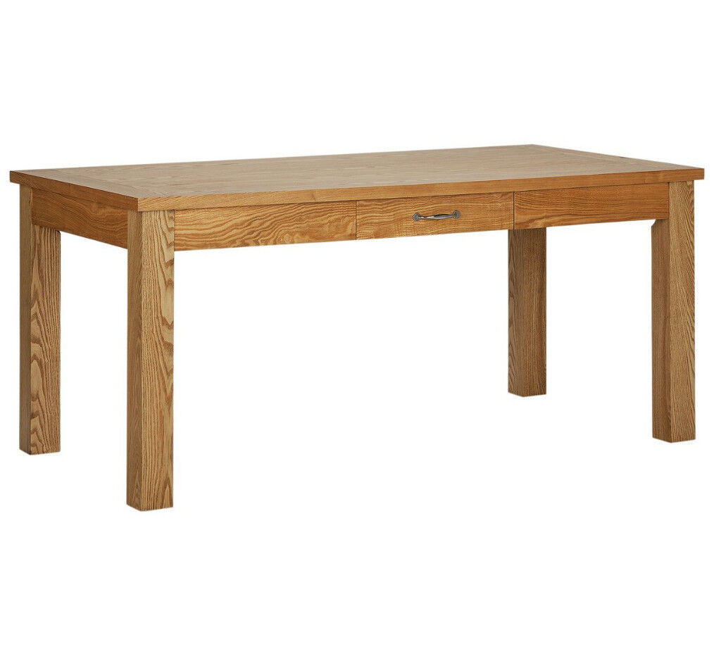 Heart of House Farnham Oak Veneer Dining Table with Drawer