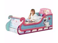 Ex Display Frozen Sleigh Toddler Bed