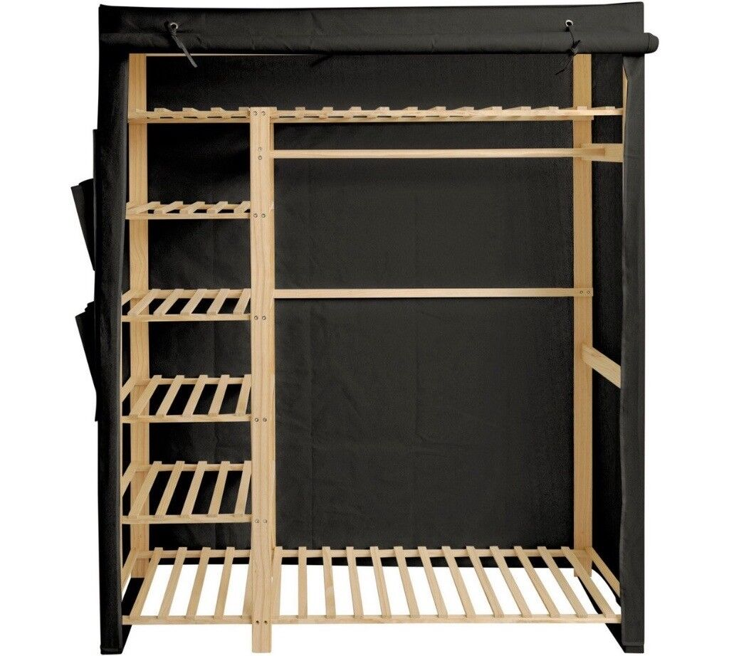 Black canvas wardrobe BIG