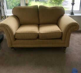 Three seater and 2 seater sofas