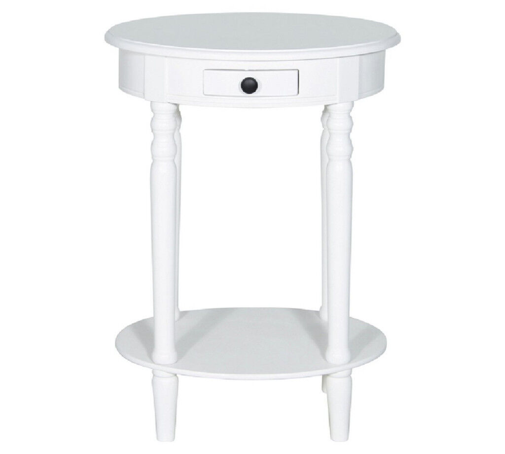 Home of Style Chawston Oval Accent Table - Off White