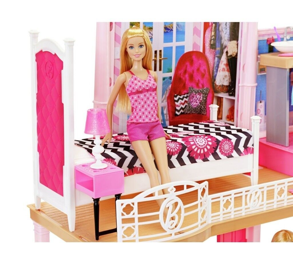 Groovy Brand New Complete Barbie House With Swimming Pool Abd 3 Dolls Across Two Floors With Furniture In Pentwyn Cardiff Gumtree Download Free Architecture Designs Rallybritishbridgeorg