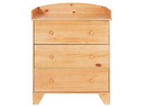 BabyStart Oxford Changer Top - Pine with Oak Finish
