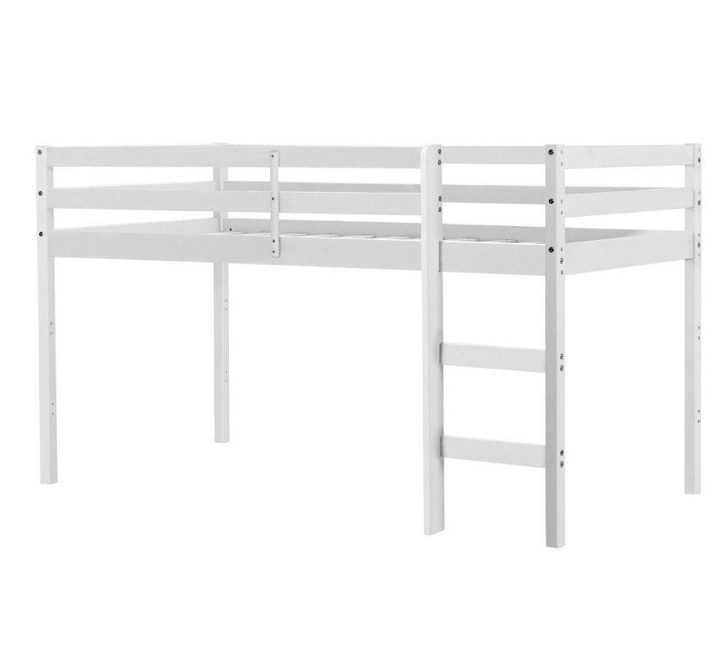 Kaycie Shorty Midsleeper Bed Frame White In Aston West Midlands