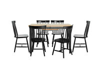Hygena Luna Extendable Dining Table & 6 Chairs