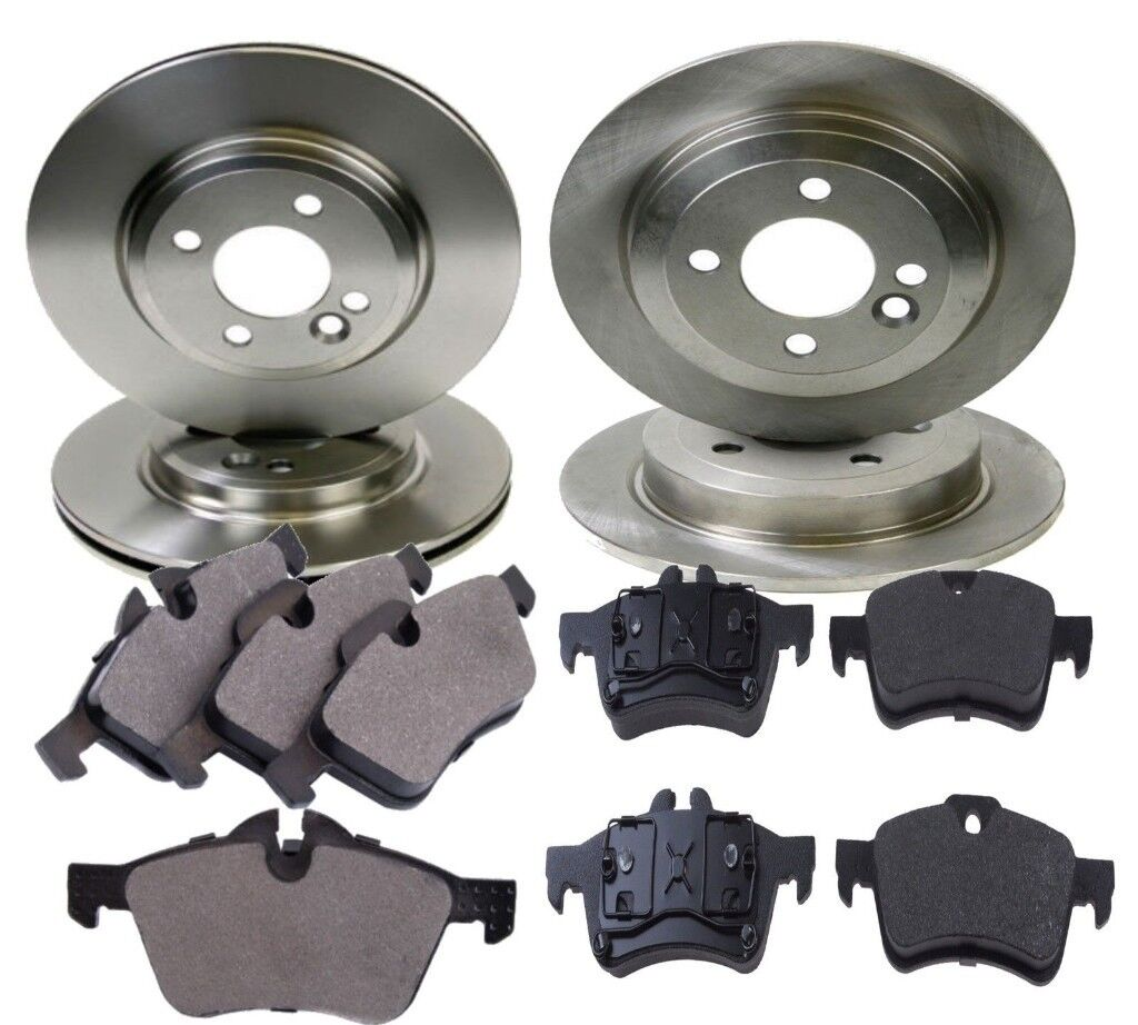 Brake Discs 259mm Solid Fits Mini Mini One D One Works S Works Rear Brake Pads