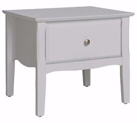 ex-display Avignon 1 Drawer Bedside Chest - White