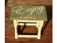 Enjoy the little things... small table or stool with unique design
