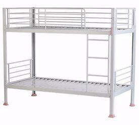 Boltzero Metal Single Bunk Bed Frame - White (NEW)