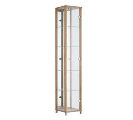 HOME 1 Door Display Cabinet - Oak