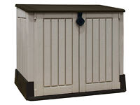 Keter Store It Out Midi Outdoor Plastic Garden Storage Shed 130 x 74 x 110 cm - Beige/Brown