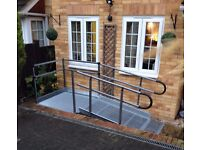 1700mm long Semi-perm temporary handrailed ramp, USED clean condition( installed price)