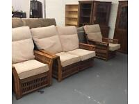** 3 PIECE CANE SUITE IN GOOD CONDITION **